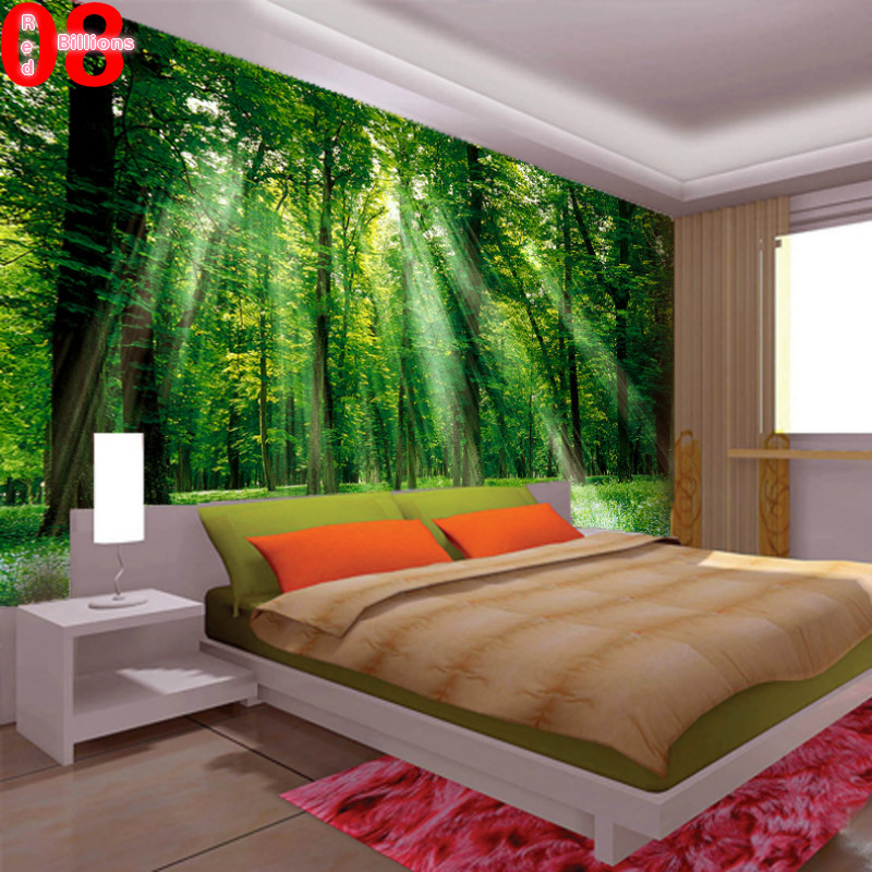 Buy mural living room wallpaper tv sofa for Art mural wallpaper