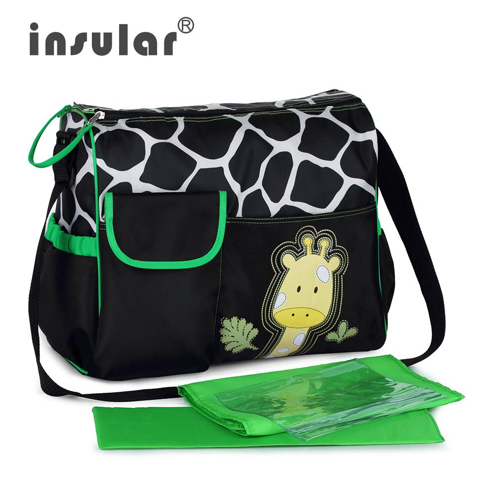 Free Shipping Hot Sales Fashion Baby Diaper Bag Cartoon Nappy Bag Cute Zebra And Giraffe Pattern Mommy Bags(China (Mainland))