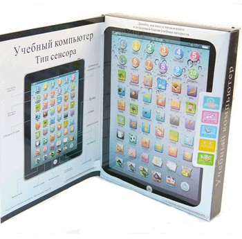 Retail Russian Baby Electronic Toy Children Kids Educational Ipad Learning Machine Toy (KH-27)