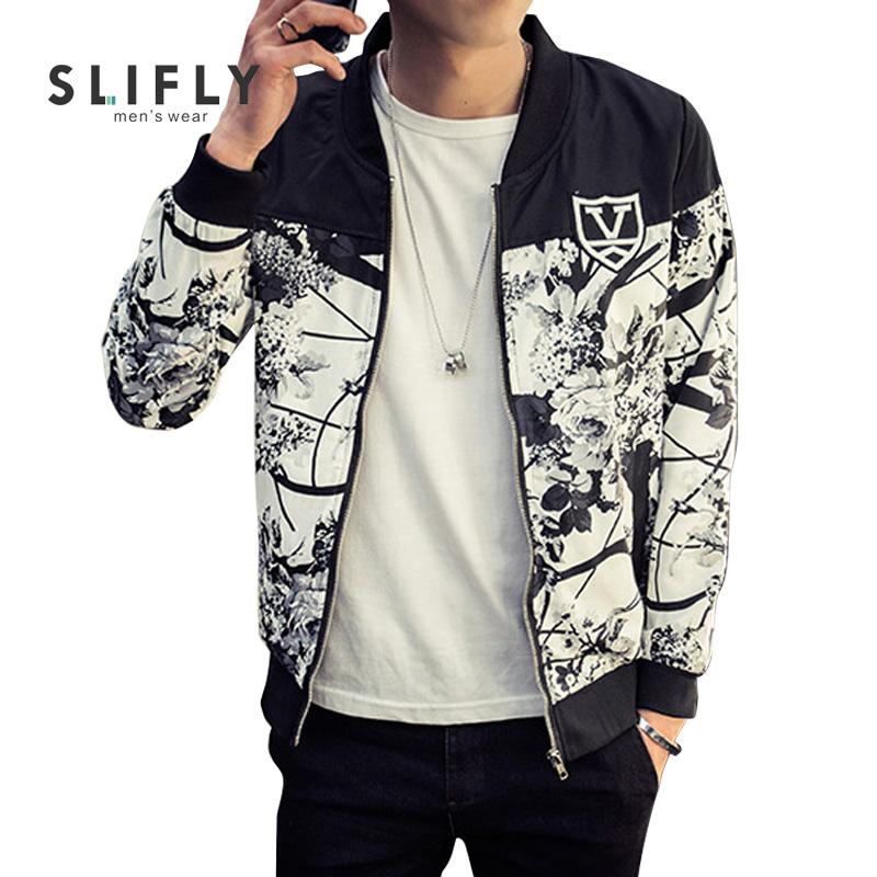 Large Size 5XL Mens Jackets Ink Flower Printed Mandrain Collar Jaqueta Masculina Fashion Slim Veste Homme Mens Baseball Jacket(China (Mainland))