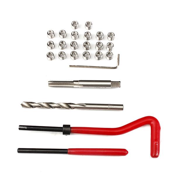 25pcs Thread Insert Installation Kit Recoil Repair Tool Drill Tap M6x1 0x8 0mm