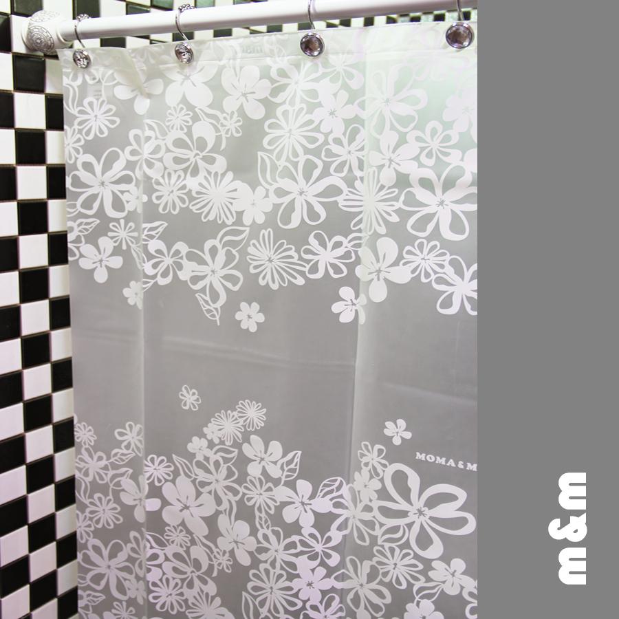 200cm 180cm High Quality Waterproof Shower Curtains White Flower Eva Shower Curtain Inshower