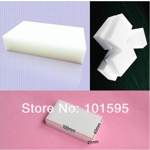 100pcs/lot Magic Sponge Eraser Melamine Cleaner,multi-functional sponge for Cleaning100x60x20mm Free Shipping(China (Mainland))