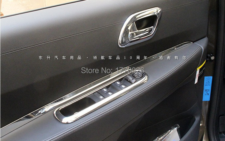 Interior Auto inside trim Window lifter cover trim seat lift cover trim Car styling for 2009-2013 Peugeot 3008