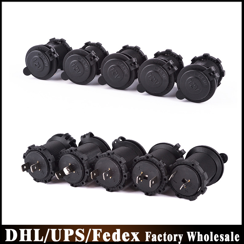 DHL/Fedex/UPS 100pcs/lot Waterproof 12V Accessory Power Socket Car Motorcycle Cigarette Lighter Plug C832(China (Mainland))