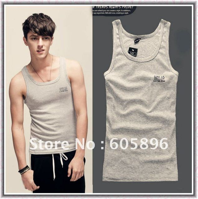 Free shipping-summer new men's vest/tank tops/sports vest  black/gray/white letters pattern  free size175CM-cheap
