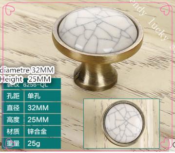a2 European style crack ceramic handle cabinet furniture drawer wardrobe door antique bronze hardware handle(China (Mainland))