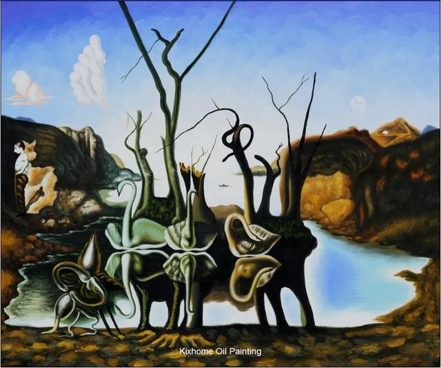 Dali cygnes reflétant des éléphants par Salvador Dali ...