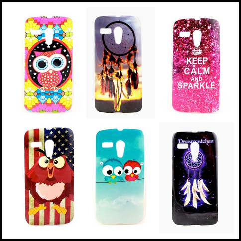 HOT ! Cute Beautiful Paiting Soft TPU Cover Case For Motorola Moto G ( XT1028 XT1031 XT1032 ) Fahion Back Cases PY(China (Mainland))
