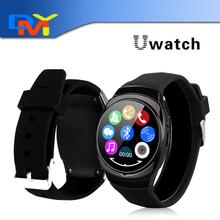 2016 новые оригинальные Uwatch ио смарт-чехол часы циркуляр экран Bluetooth SmartWatch шагомер полностью совместима с Android телефон
