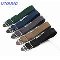 high quality hot sale fashion Perlon long strap watch 20mm black Gray bracelet brand special