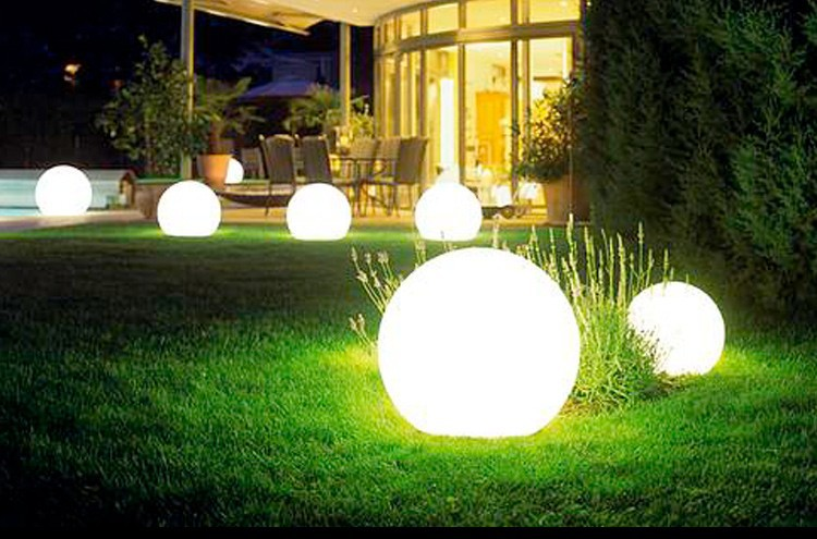 Acquista 35cm outdoor led decorative ball lighting home garden luci
