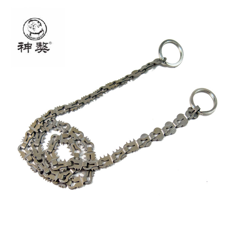 Survival Wire Saw Military Scroll steel saw outdoor hunting Tibetan mastiff chain saw survival aid survival chain saw