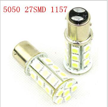 Free shipping Super Bright 27 SMD 5050 LED Auto strobe flash 1156 1157 BAY15D P21/5W Car Tail Led Bulb Light Brake Lights(China (Mainland))