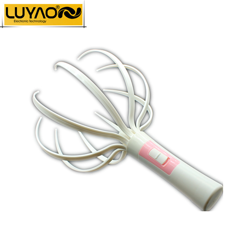LUYAO Electric Head massager.Vibrating Scalp massager.Prevent hair loss.Octopus Neck Equipment Stress Release Relax Massager(China (Mainland))