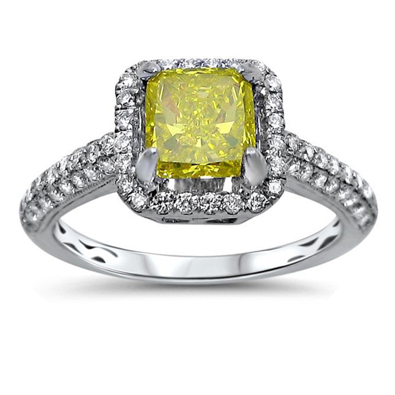 Square Crystal Topaz Citrine Ring 10kt Silver Filled Wedding Ring Anello Donna Anillos Mujer Bijoux Bague Femme Anel Feminino 15(China (Mainland))