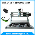 cnc2418 2500mw laser diy mini cnc engraving machine Pcb Milling Machine Wood Carving machine cnc router