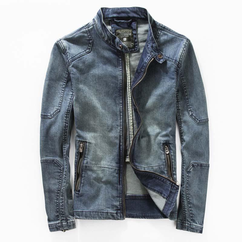 Free Shipping Leisure Denim Jacket Men Coats Outwear Vintage Slim Jackets Streetwear Jeans ...