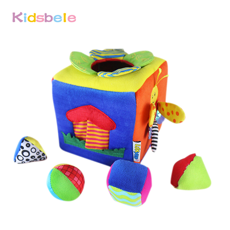Kids Early Learning Toy Shape Animal Activity Cloth Book Newborn Soft Rattles Cube Baby Toys 0-12 Months(China (Mainland))