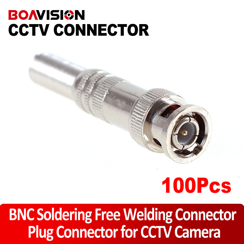 100pcs/lot BNC Soldering Free Welding Free BNC Connector Adapter(China (Mainland))