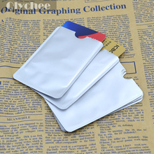 10 Pcs/ 1 Lot RFID Protector Secure Sleeves Credit Card Holder Blocking Case Shield(China (Mainland))