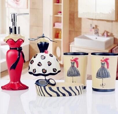 Bathroom Set Creative Wedding housewarming gift Hand sanitizer bottle Set Cups Wash Kit 2014 New(China (Mainland))