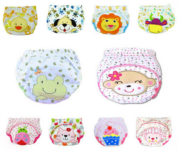 5 pcs/lot 2017 NEW ! Baby Diapers Children Reusable Underwear Breathable Diaper Cover Cotton Training Pants Can Tracked