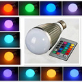 New E27 3W 16 Color Changing RGB LED smart home Light Change Lamp IR Remote Control