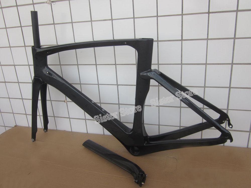 1100G Full Carbon Road Frame S/M/L/XL Size TT Frames Carbon Time Trial Bicycle Frameset+Fork Parts Down 1 1/2 BB386;UD Matt(China (Mainland))