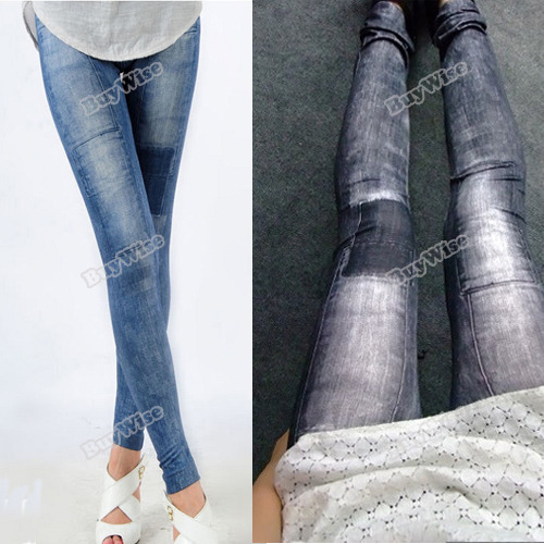 microgood Only you Women Jeggings Stretch Skinny Leggings Tights Leg Wear Pencil Pants Jeans Multifunctional!(China (Mainland))