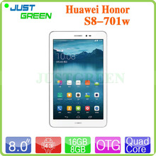 New HUAWEI Honor Tablet S8-701W 8 inch 1280X800 MSM8212 Quad Core 1GB RAM 8GB/16GB ROM 5.0MP Camera Bluetooth 4.0 GPS OTG 1080P