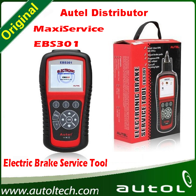 2015 Professional Autel Electric Brake Service Tool EBS301 MaxiService EBS301 with High Quality Fast Shipping(China (Mainland))