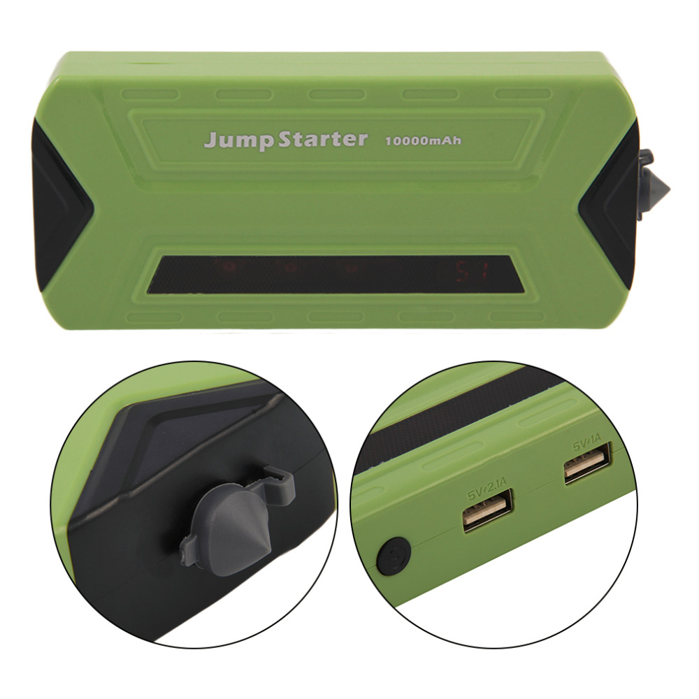 New For Petrol and Diesel Jump Start TPS990 Portable 10000mAh Car Jump Starter Power Bank Green Auto Battery Emergency Charger