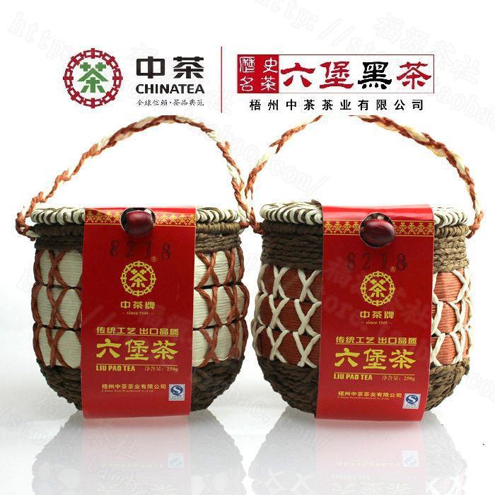 Гаджет  250g China Tea Wuzhou Liu Pao Tea with Beautiful Basket Packing Chinese Post-Fermentation Dark Tea liu bao black tea None Еда