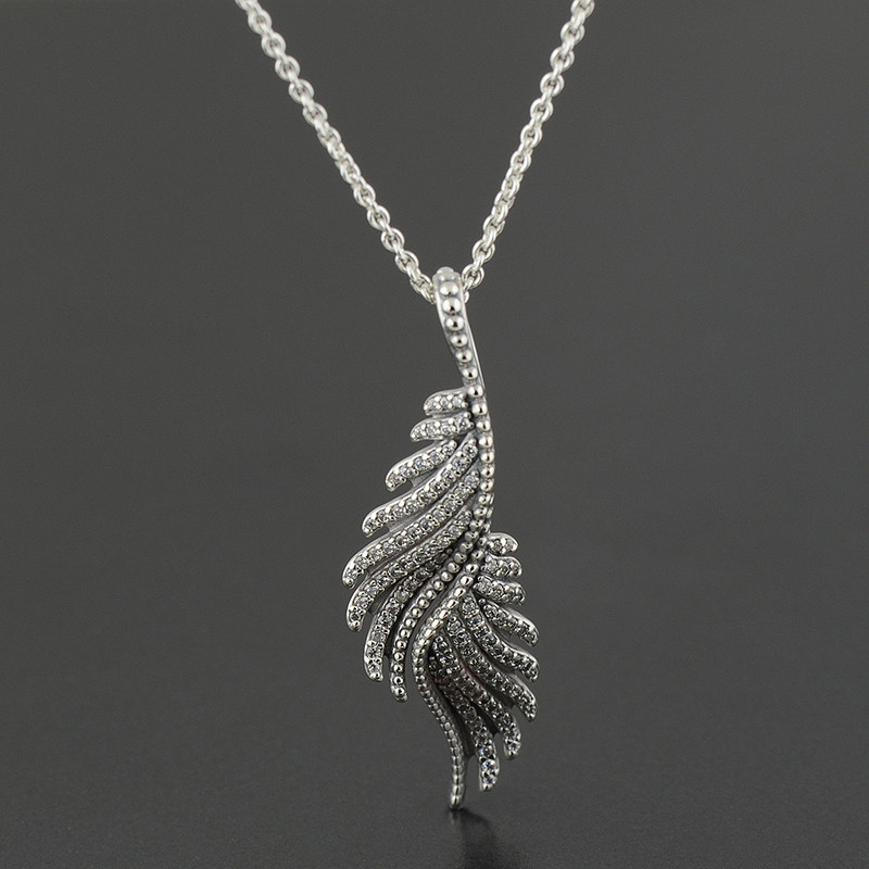 Sterling-silver-jewelry necklace 925 sterling silver fine jewelry Phoenix feather pendant with Chain necklaces pendants CENC011