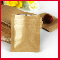 Zip lock bags 20pcs/lot 6cm*8cm*140mic High Quality Kraft Paper Coffee Bean Bags Small Zipper Pouch Heat Seal Retail Bags(China (Mainland))