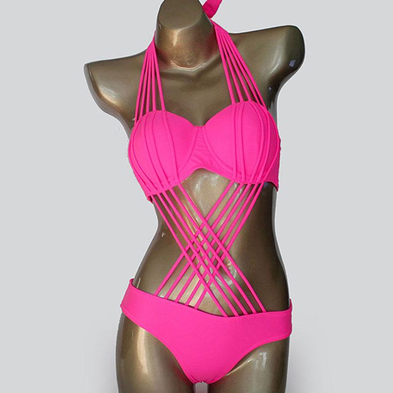one piece swimsuit sexy brazilian push up swimwear swim. Black Bedroom Furniture Sets. Home Design Ideas