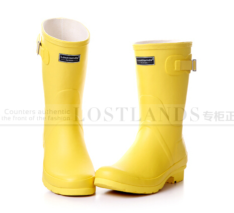 2015 Solid Color Rainboots Fashion Rubber Women Rain Boots Women's shoes Candy Color Matt Quality(China (Mainland))