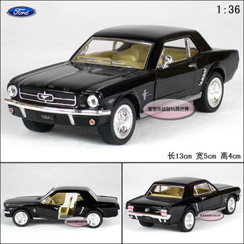 1: 36 FORD 1964 mustang black alloy car models free air mail