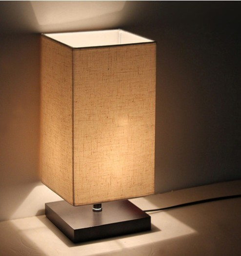 Hot selling high end modern brief fashion wool bedside for Living room end table lamps