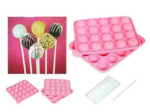 new silicone non stick cake pop set baking tray mold birthday party 20 units 01078 on aliexpress. Black Bedroom Furniture Sets. Home Design Ideas
