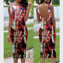 Fashion python pattern print 2016 sexy club dress halter dress long Special occasion nightclub dress Sleeveless Women Midi Dress
