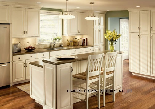 Solid Wood assemble kitchen cabinets(LH-SW040)(China (Mainland))