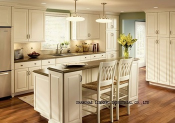 Solid Wood assemble kitchen cabinets(LH-SW040)