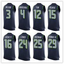 Men's Russell Wilson Tyler Lockett Richard Sherman Marshaw Lynch Earl Thomas 2016 Summer Fashion Top T-Shirts!(China (Mainland))