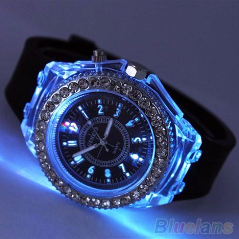 Unisex Fashion Geneva Silicone Luminous Light Sports Quartz Analog Wrist Watch <br><br>Aliexpress