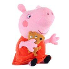 Genuine Peppa Porco George Peppa Pig Família Plush Toy Stuffed Boneca Decorações Do Partido Ornamento Presentes Brinquedos Para Crianças(China)