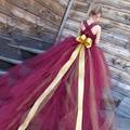 2017 Rainbow Fashion High-end Custom Flower Girl Dresses Princess Dress 2-14Year Children's Ballet