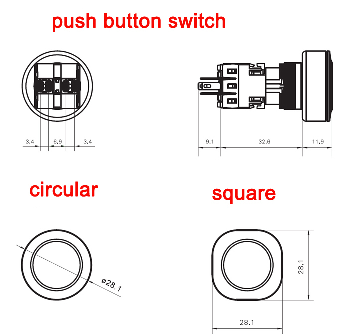 haboo dia 16  22mm illuminated push button switch latching