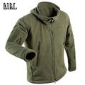 Military Tactical Softshell Fleece Jacket Hooded Winter Men US Army Polartec Sportswear Clothes Warm Coat Casual